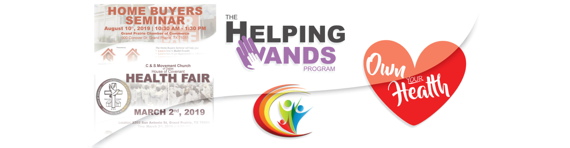 Home Buyers Seminar, The Helping Hands Program, Own Your Health collage image